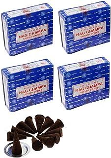 Satya Sai Baba Nag Champa Cônes d'encens Nagchampa Lot de 48 cônes