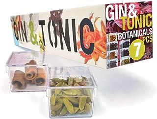 Gin Tonic gift, 7 Botanicals to Garnish for Gin & Tonic Pack Flavoring Cocktail Gift Set