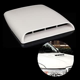 KaTur Universal Car Decorative Air Flow Intake Hood Scoop Vent Turbo Bonnet Cover White