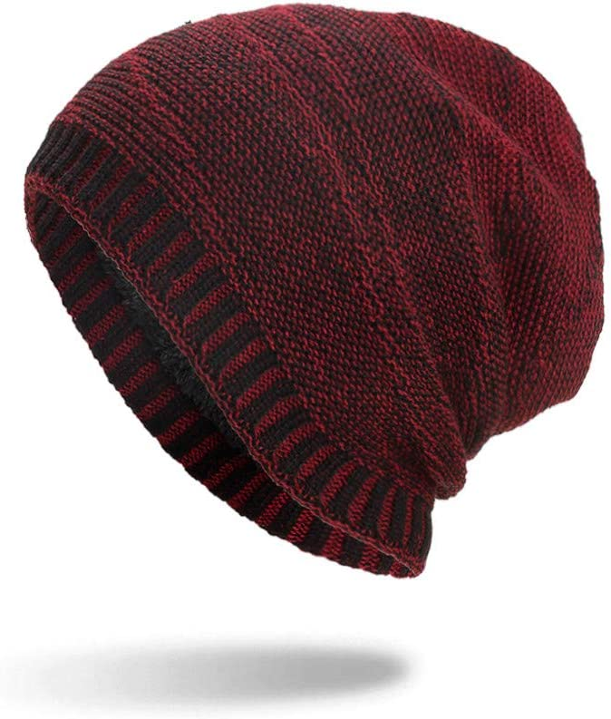 Sttech1 Unisex Max Boston Mall 81% OFF Striped Cotton Hats Warm Thick He Winter Cap Knit