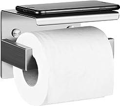Aikzik Zelfklevende toiletpapierhouder, toiletpapierhouder, roestvrij staal, zonder boren, wc-papierhouder voor wandmontag...
