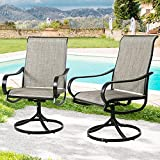 Peak Home Furnishings Outdoor Swivel Rockers Patio Glider Dining Chairs Set of Two