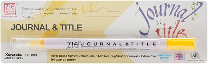 (Pure Yellow) - Zig Memory System Journal and Title Marker, Carded, Pure Yellow
