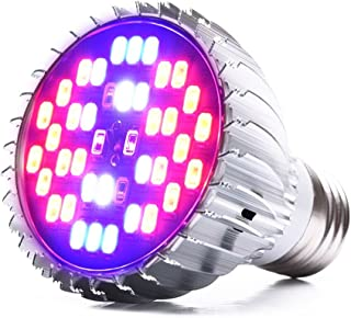 LONGKO 30W Full Spectrum Led Grow Light Bulb E27 Growing Plant Light Lamp for Indoor Garden Greenhouse Hydroponic