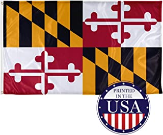 Vispronet - Maryland State Flag - 5ft x 8ft Knitted Polyester, State Flag Collection, Printed in The USA (Flag Only)