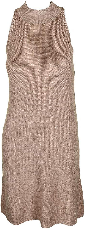1.STATE Womens Metallic Mock Turtleneck Sweaterdress