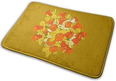Daffodil Bouquet Carpet Non-Slip Welcome Front Doormat Entryway Carpet Washable Outdoor Indoor Mat Room Rug 15.7 X 23.6 inch