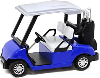 Pull Back Car Toys 1:20 Scale Mini Durable Alloy Golf Cart w/ Clubs Diecast Model Vehicle Toy for Kids Gift (Blue)