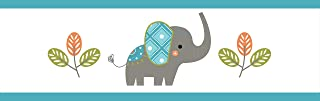 Sweet Jojo Designs Mod Elephant Baby Childrens and Kids Wall Paper Border