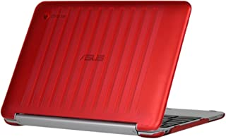 iPearl mCover Hard Shell Case for 10.1-inch ASUS Chromebook Flip C100PA Series Laptop (Red)