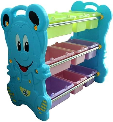 Havanadd-Home Enfants Jouet Et Store It Bin Organisateur de RangeHommest pour Enfants - Organisateur de RangeHommest avec bacs Pastel Organisateur de Stockage (Couleur   Bleu, Taille   77  86  45CM)