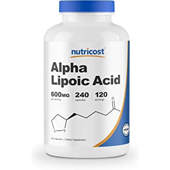 Nutricost Alpha Lipoic Acid 600mg Per Serving, 240 Capsules - Gluten Free, Plant-Based Capsules, Soy Free & Non-GMO