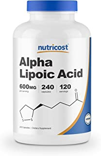 Nutricost Alpha Lipoic Acid 600mg Per Serving, 240 Capsules - Gluten Free, Veggie Capsules, Soy Free & Non-GMO
