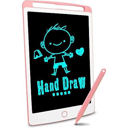 Richgv LCD-Schreibtafel, magnetisches LCD-Zeichenbrett für Kinder und Erwachsene 10-Zoll-tragbare Digitale Schreibtafel, abnehmbare handschriftliche Gekritzel-Schreibtafel mit Stift (pink)