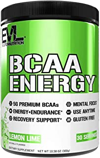 Evlution Nutrition BCAA Energy - Essential BCAA Amino Acids, Vitamin C, + Natural Energizers for Performance, Immune Suppo...