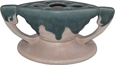 Roseville Pottery Carnelian I Pink and Blue Ceramic Flower Frog 59-3