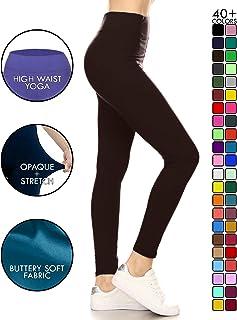 e70dee2e55 FREE Shipping by Amazon. Leggings Depot High Waisted Leggings -Soft   Slim  - 37+ Colors   1000+