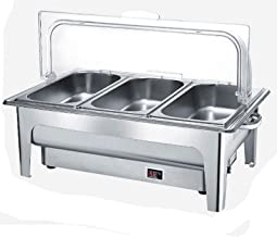 XBSXP Chafing Dish électrique pour fêtes, Chauffe-Plats pour fêtes et buffets, Serveur de Buffet et réchaud pour banquets,...