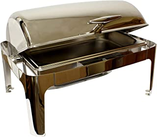 Lot45 | Chafing Dish Buffet Set – 8 Qt Chafing Dish Set Stainless Steel Chafer Set with Full Sized Catering Trays