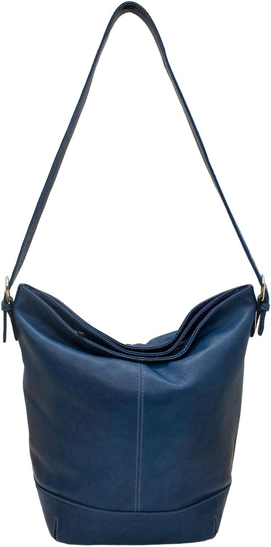Classic Leather Bucket Shoulder Handbag