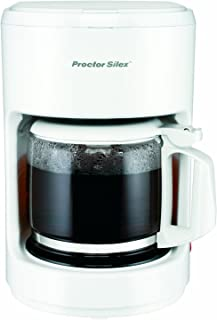 Proctor Silex Compact 10 Cup Coffee Maker, Works with a Smart Plug, White (48350Y)