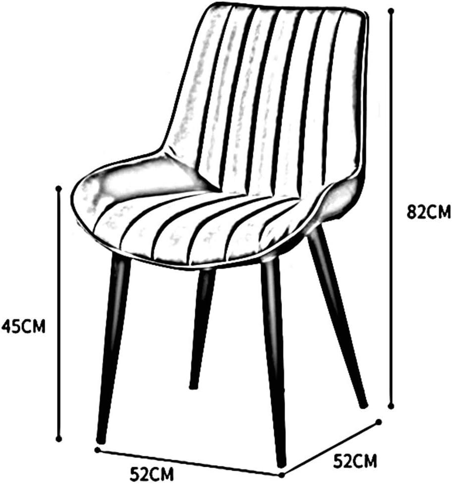 DALL Chaise De Salle À Manger Style Moderne Chaise De Table Dossier Pieds en Métal Noir Chaise De Maquillage Coussin PU Chaise De Café De Loisirs Assemblée (Color : Brown) Green