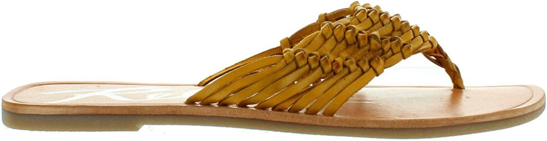 Rebels Sarita - Yellow Huarache Flat Thong Sandal