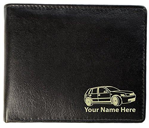 Herren Brieftasche, aus Leder, Motiv: VW Golf Mk4 , personalisierbar, Toskana-Stil