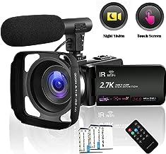 Camcorder 2.7K Vlogging Camera WiFi Video Camera Night...