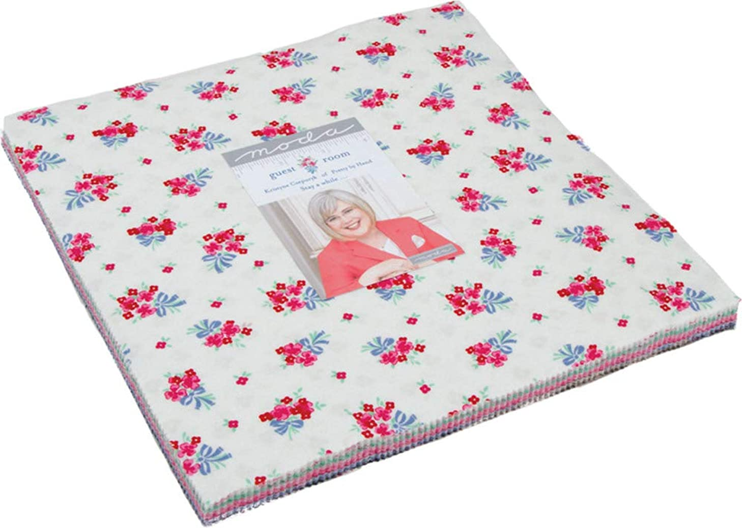 Guest Room Layer Cake, 42-10 inch Precut Fabric Quilt Squares by Kristyne Czepuryk