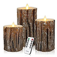 ENERGY SAVING, POWERFUL LEDS: These impressive candles require 2 AA batteries per candle, that are expected to last for about 150 hours, while the lifetime of the led lamps is up to 50,000 hours. Unlike real candles, these flameless pillar candles ar...