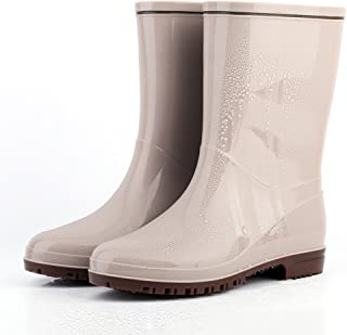 [HR株式会社] レインブーツ レディース 長靴 雨靴 シンプル 通勤 リボン 蝶結び 可愛い 防水 雨 晴雨兼用 雪 滑り止め 美脚 カジュアル