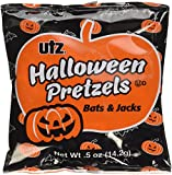 Utz Halloween Bat & Pumpkin Shaped Treats Pretzel, 20 oz, 40 Bags