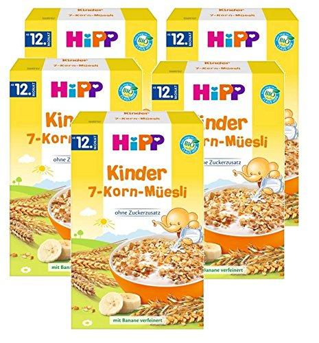 Hipp Kinder Muesli 7 Grains, 5er (5 x 200g)