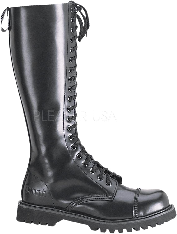 Demonia Wadenstiefel Rocky-20 Leder schwarz Gr. 36
