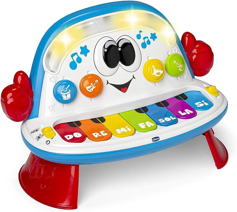 Chicco funky piano orchestra, gioco musicale, elettronico, età 1-4 anni 00010111000000