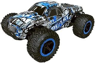 Zzlush ラジオコントロール玩具マジックトラック1時16 2WD高速RCレーシングカーの高速リモートコントロールトラックオフロードバギーのおもちゃ (Color : 青)