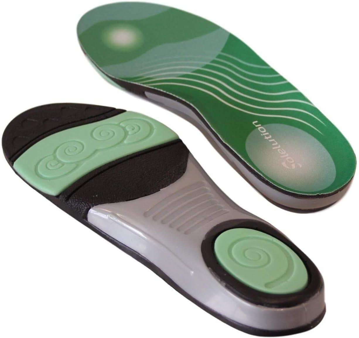 Solelution - Plantillas de fútbol para calzado de fútbol, soporte para arco, ortopédicos, plantillas para pies planos, insertos en el antepié, alivio del dolor de pies para ayudar a los deportes