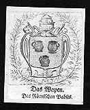 Das Wapen des Römischen Pabst - Papst pope pontifex Rom Rome Wappen Adel coat of arms heraldry Heraldik Kupferstich