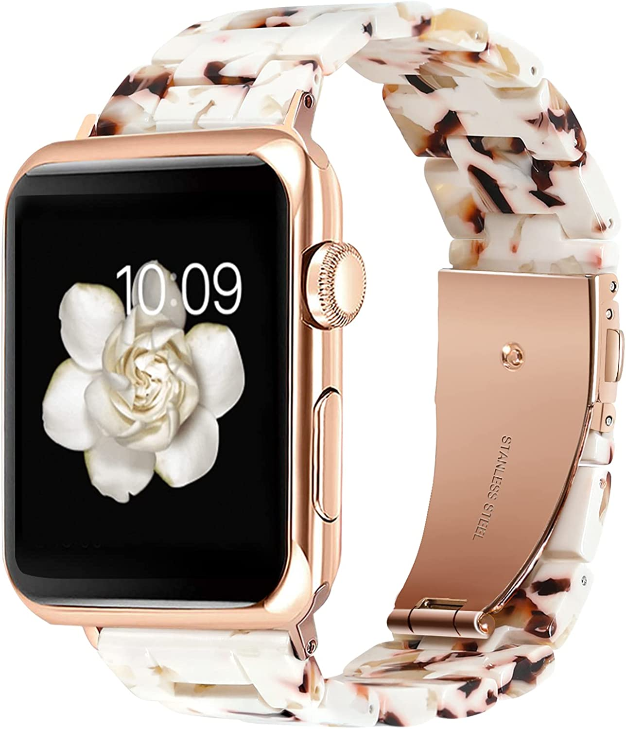 AiSwag Compatible with Apple Watch Bands 38mm 40mm 42mm 44mm Fancy Resin Watch Bands Replacement for iwatch Series 6 5 4 3 2 1 SE for Men Women