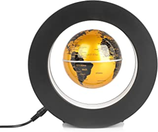 Magnetic Suspension Round Shape World Map Anti-Gravity Earth Globe LED Lights Home Decor Desk Decorations Birthday Gifts f...