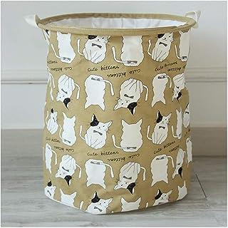 MJY Panier de rangement de bande dessinée sale panier ours polaire lapin motif coton lin bureau jouet boîte de rangement t...
