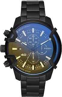 ساعة جريفد بعرض انالوج وسوار من ستانلس ستيل للرجال من ديزل بمينا اسود اللون - DZ4529