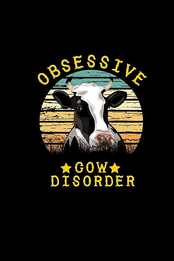 高速道路吸い込む愚かObsessive Cow Disorder: Cow Notebook: 6x9, 120 Page, Blank Lined, College Ruled Journal