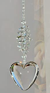 Clear Crystal Glass Chakra Suncatcher Window Hanging Ornament, Love Relationship Anniversary Gift, Birthday