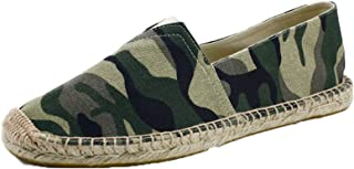Espadrilles pour Hommes Mode Camouflage Slip-on Low-Top Casual Chaussures Portable Léger Respirant Chaussures en Toile
