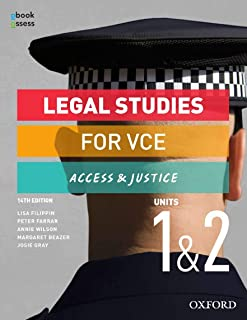 Legal Studies for VCE Units 1 & 2 Student book + obook assess: Access & Justice