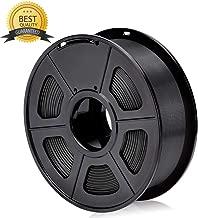 Atneway 3D Printer Filament PLA, 1.75mm Black, Dimensional Accuracy +/- 0.03 mm, 1 kg Spool