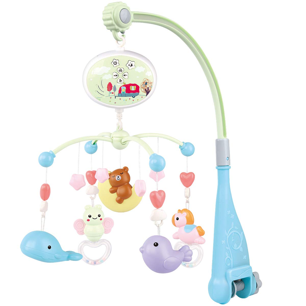 Fistone Baby Musical San Diego Mall Max 43% OFF Crib Mobile and Night Light Projection with