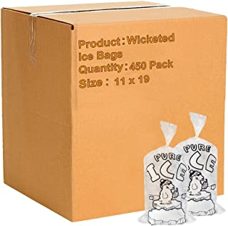 APQ Pack of 1000 Wicketed Ice Bags 11 x 19 + 3. Polar Bear Printed Icebags 11x19. FDA, USDA Approved 1.5 mil Thick. 8 lbs BPA Free Food Grade Safe Plastic Ice Bags. Puncture Proof
